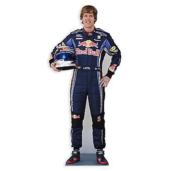 Recorte de cartón de Sebastian Vettel Lifesize / pie / pie