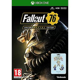 Fallout 76 festgelegt (Xbox One) Spiel Special Edition mit exklusiven Pin Badge