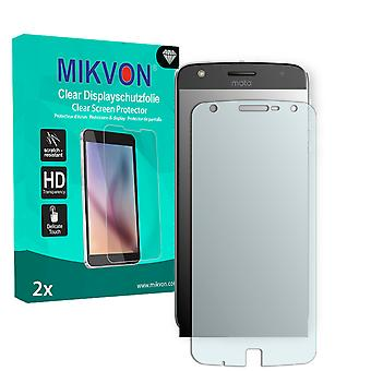 Lenovo Moto Z Play Screen Protector - Mikvon Clear (Retail Package with accessories) (reduced foil)