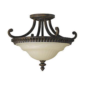 Tekening kamer twee lichte Semi Flush plafond armatuur - Elstead verlichting Fe / Drawingrm / FE/DRAWINGRM/SFA