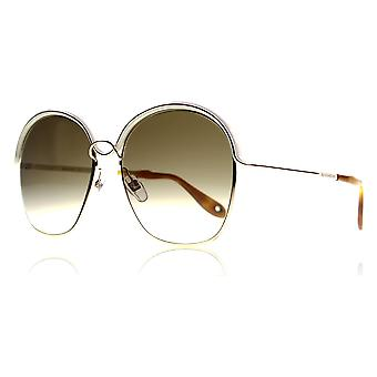 Givenchy 7030/S J10 Gold Beige 7030/S Round Sunglasses Lens Category 2 Size 58mm