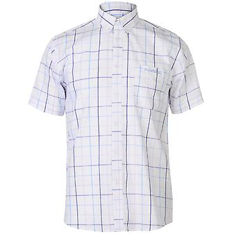 Pierre Cardin Mens finestra Verifica manica corta camicia Casual Top