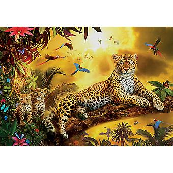 Educa Leopard And His Cubs Jigsaw Puzzle (500 Pieces)