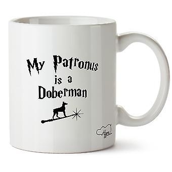 Hippowarehouse My Patronus Is A Doberman Printed Mug Cup Ceramic 10oz