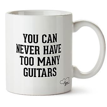 Hippowarehouse, вы можете никогда не иметь слишком много гитар напечатаны Кубка керамическая кружка 10oz