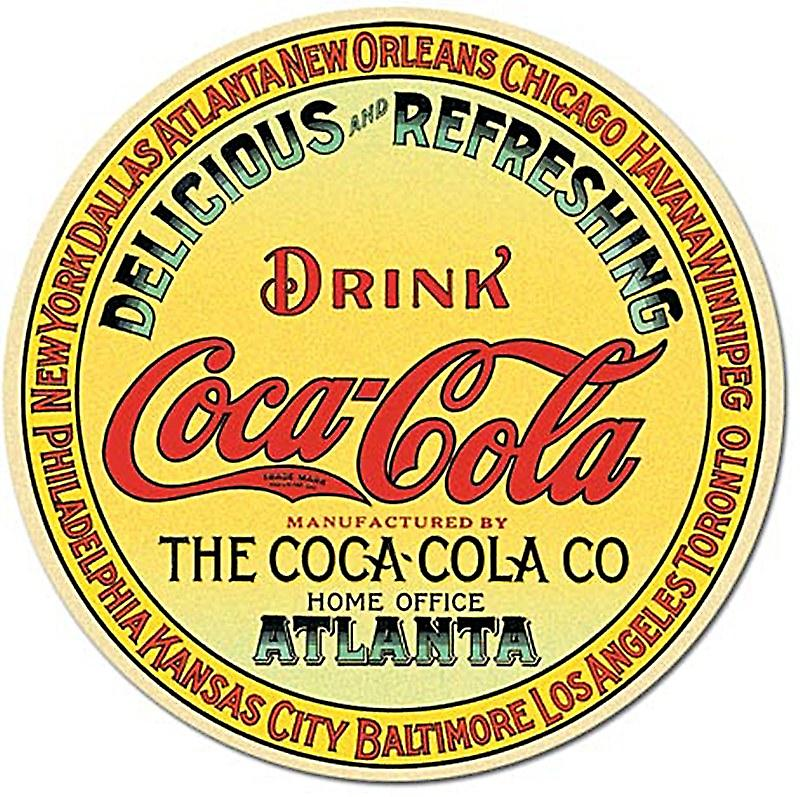 Coca Cola Keg End round fridge magnet    (de)