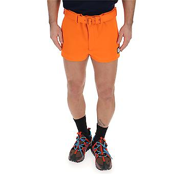 Prada Orange Polyester Shorts