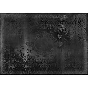 Rugs -Mineheart - Kashan Remix Landscape Rug in Black