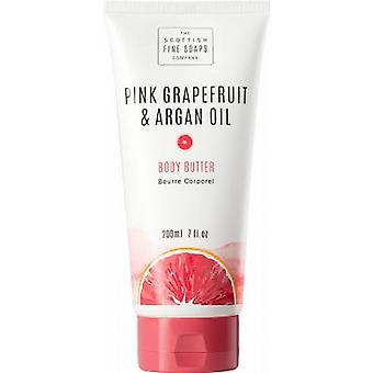 Scottish Fine Soaps Pink Grapefruit & Argan Oil Body Butter Tube