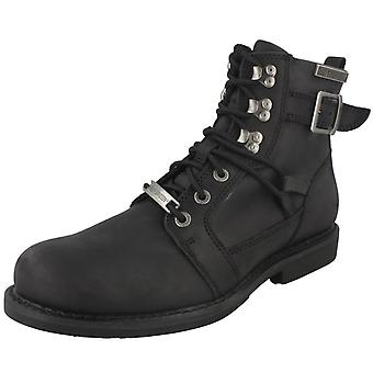 Mens Harley Davidson Lace Up Ankle Boots Harrison D93438