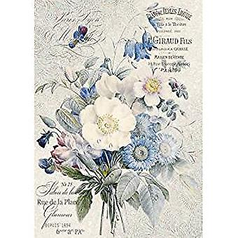 Stamperia Rice Paper A4 Old England Bouquet (DFSA4149)