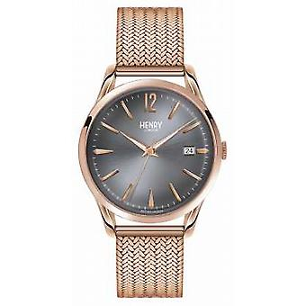 Henry London Finchley Rose guld maske grå Dial HL39-M-0118 Watch