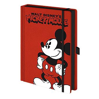 Mickey Mouse Red Premium A5 Notebook
