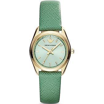 Orologio cinturino in pelle quadrante verde donna Emporio Armani Ar6034