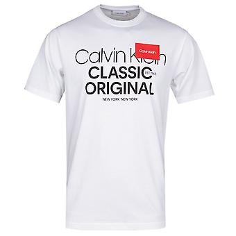 Calvin Klein Logo Text White T-Shirt