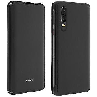 Huawei P30 Case Cover Storage Cards Integral Protection-Black