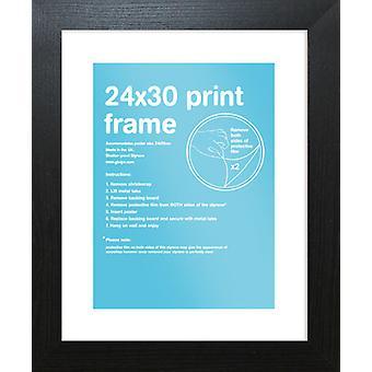 Eton schwarz Rahmen 24 x 30cm Poster / Frame drucken