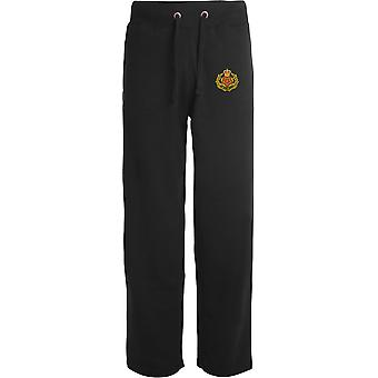 Duke Of Lancasters Regiment - Licensed British Army Embroidered Open Hem Sweatpants / Jogging Bottoms