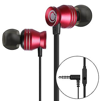 Ggmm portable metal stereo headset in-ear noise cancellation red earphone earbud