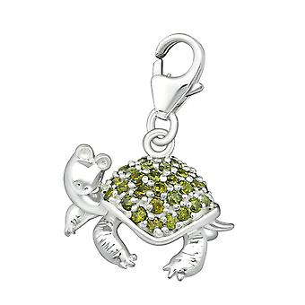 Turtle - 925 Sterling Silver Charms with Lobster - W6226X