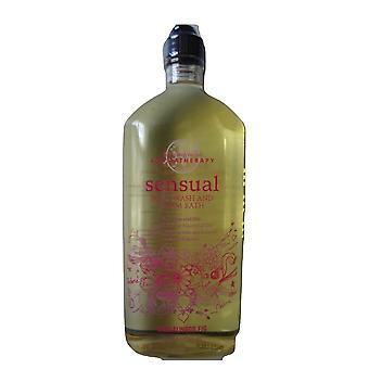Bath & Body Works Aromatherapy Sensual Sandalwood Fig Body Wash & Foam Bath 10 oz / 295 ml