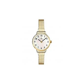 Accurist Ladies Round Mother Of Pearl Dial Gold Expanding Bracelet Watch