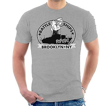 Popeye Battle Ships Brooklyn Men's T-Shirt