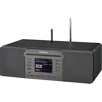 Internet Table top radio Sangean AUX, Bluetooth, CD, SD, USB DLNA-compatible, Multi-room, Spotify Black