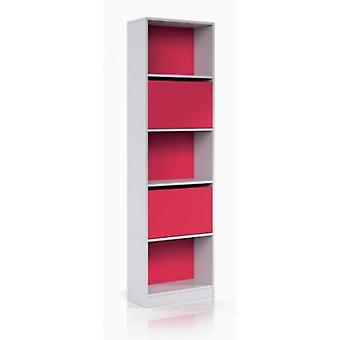 Bricohabitat Ipink shelf with doors Gloss White / Magenta 52x180x25 cm