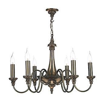Bailey traditionella 6 ljus hänge i brons hänge