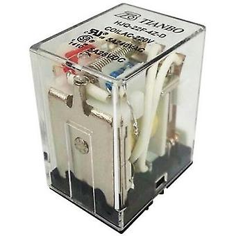 Plug-in relay 230 Vac 5 A 4 change-overs Tianbo Electronics HJQ-22F-4Z -220/240VAC 1 pc(s)