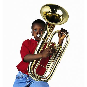 Child Playing Baritone PosterPrint