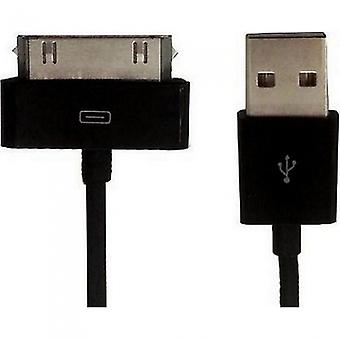 HTCOM 1m USB charging data cable iPhone iPad iPod 30pin to USB black