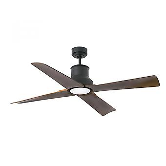 Faro energy-saving LED ceiling fan Winche black IP44