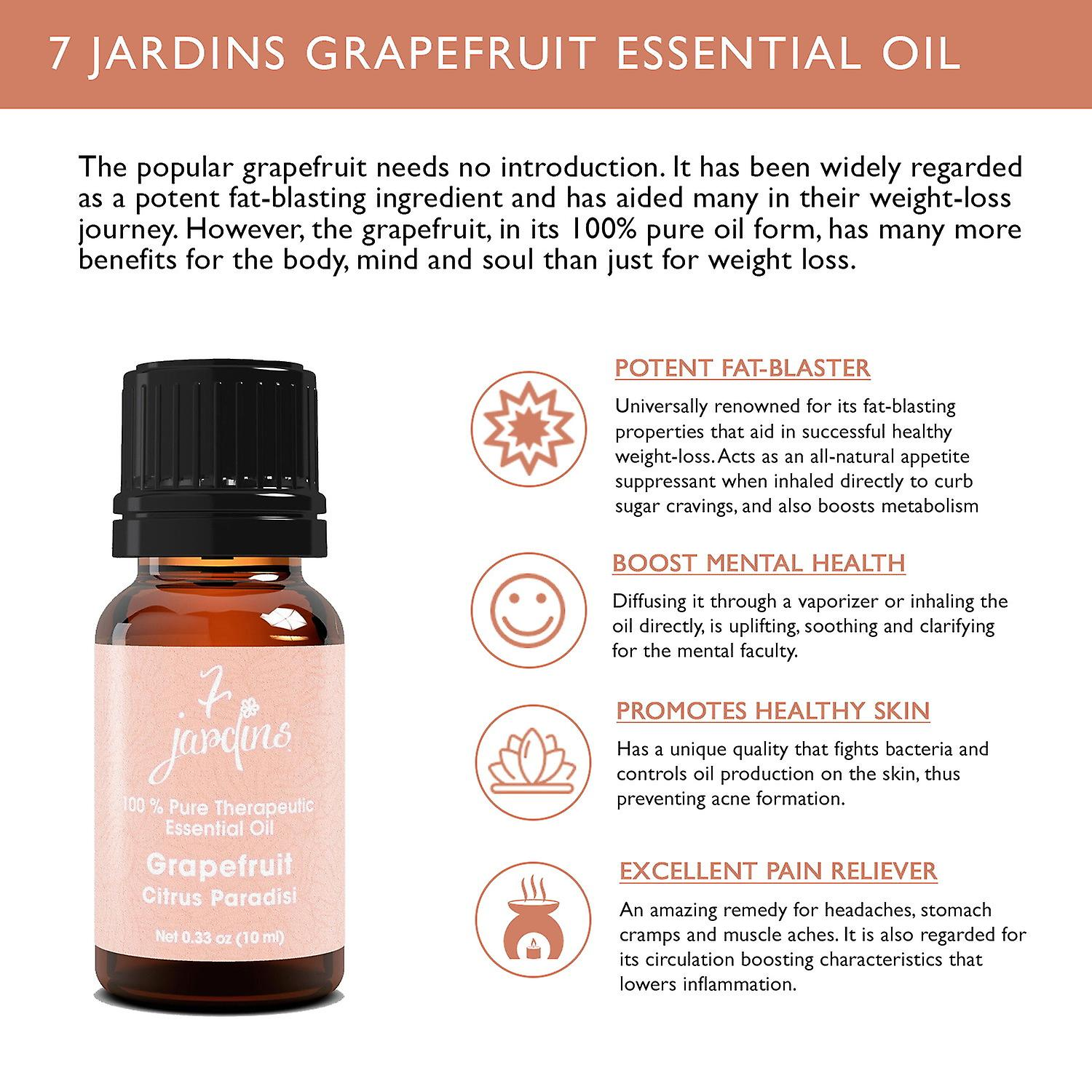Grapefruit Essential Oil -(Pink) Citrus Paradisi-100% Pure Theraputic