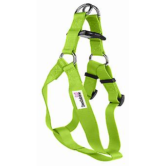 Doodlebone Bold Nylon Harness Green Medium 20mm 40-65cm