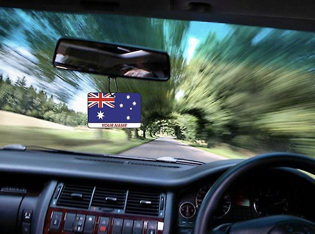 Australia Flag Personalised Car Air Freshener