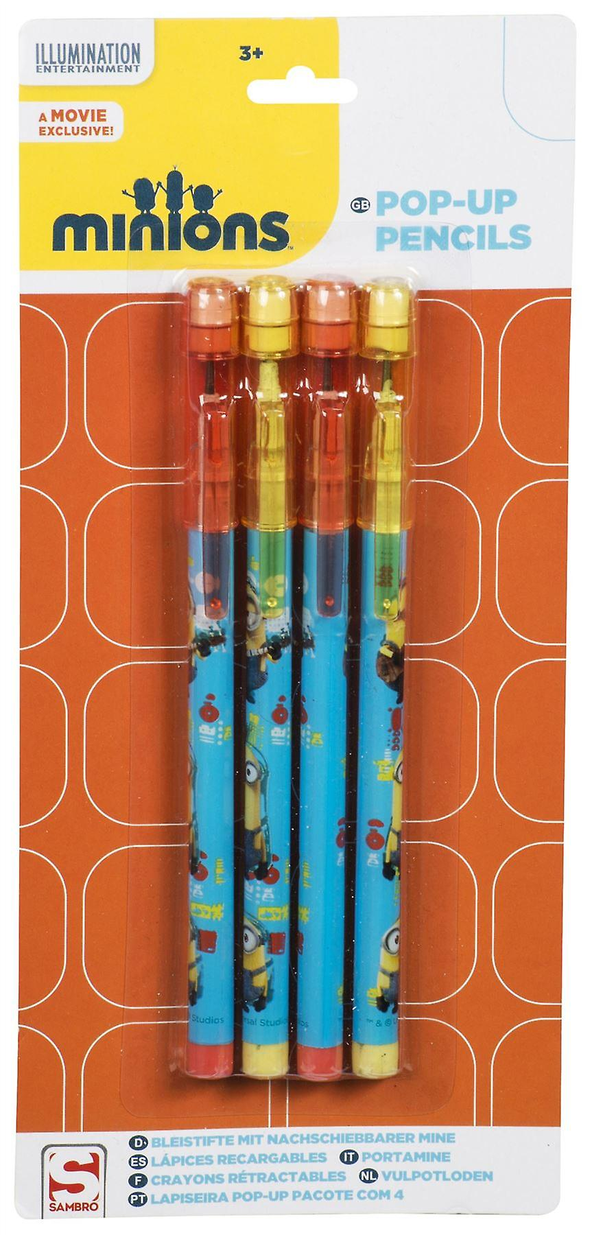 Pop Up Pencils   DESPICABLE ME MINIONS   Officially Licensed