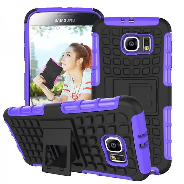 Hybrid case 2 piece SWL robot purple for Samsung Galaxy S6 G920 G920F