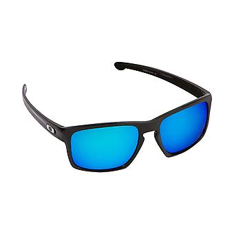 Best SEEK Polarized Replacement Lenses for Oakley SLIVER Black Blue Mirror