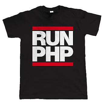 Eseguire PHP, Mens divertente Web Developer T Shirt