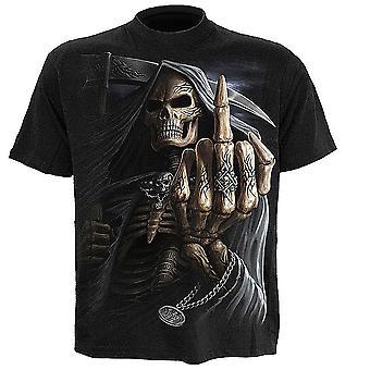 Bone Finger  Mens Short Sleeve Tshirt