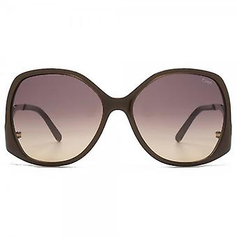 Chloe Emilia Retro Square Sunglasses In Light Brown