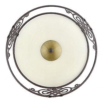 EGLO Mestre 1 ljus traditionella tak ljus spola antika Brow