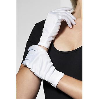 Vrouw grootte korte witte handschoenen Micky Maus