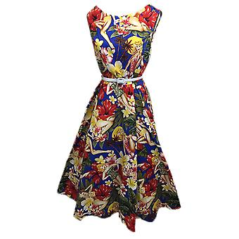 BOOLAVARD Women's Audrey Hepburn 1950's Rockabilly Dress + Laundry Bag + Gift /