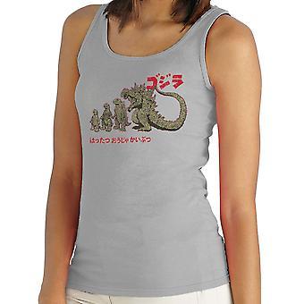 Ewolucja król potworów Godzilla kobiet kamizelka