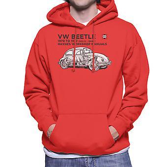 Haynes Workshop Manual VW Beetle 70 To 72 Black Men's Hooded Sweatshirt