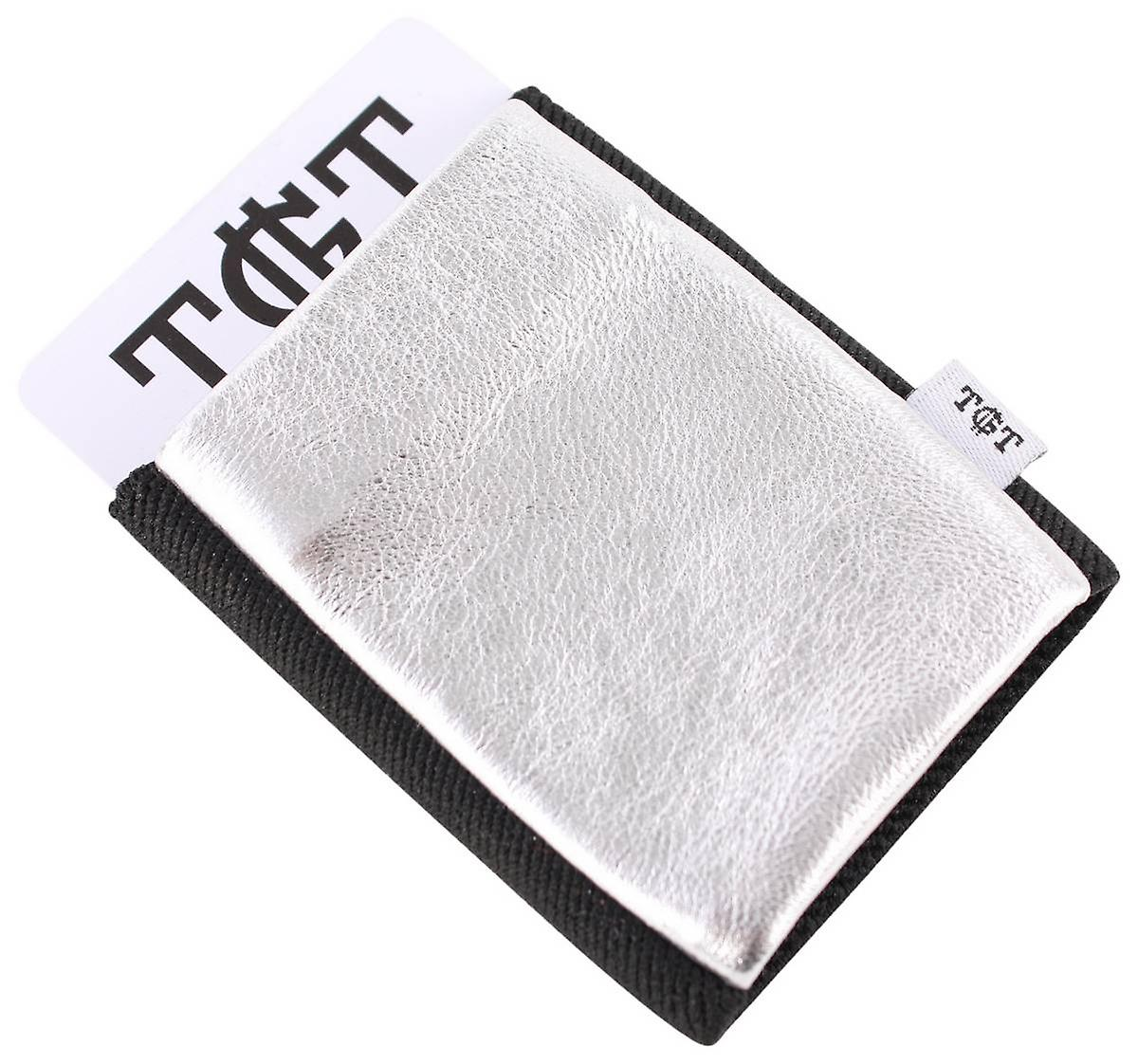 TGT Tight Wallets Elastic Card Holder - Silver/Black