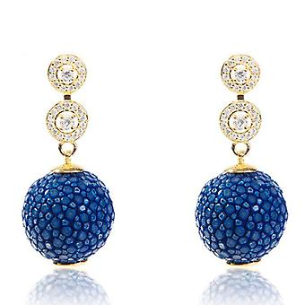 Medusa collectie Stingray bal Earring met Zircon Design Royal Blue